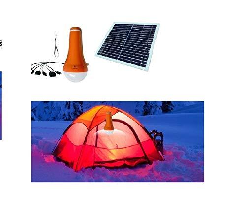 I-Lumen® Lantaarn op zonne-energie, led-acculamp, 4400 mAh, met zonnepaneel, zaklamp, iPhone oplader voor op de camping en outdoor