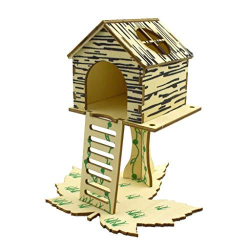 RG-FA Camas de animales pequeños – Pet Rat Hamster Villa Nido Cama Dormir Casa Escalada Escalera DIY Montaje Tuerca