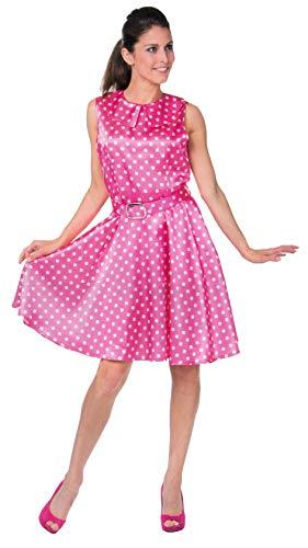 Brandsseller Damen Kostüm Rock n Roll Verkleidung Karneval Party Fasching Junggesellinnenabschied Pink L