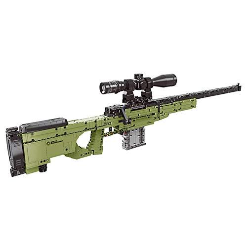 Mr.LQ Puzzle 3D Giocattolo- Kit Modello Fucile da Cecchino AWM Gun Building Blocks Mattoni Giocattoli Regali per Bambini Bambini