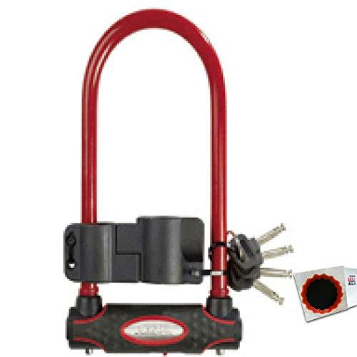 keine Angabe Master Lock Bügelschloss 8195 13mm x 280mm x 110mm Schlüssel rot 1,25kg Fahrrad