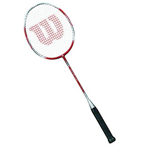 Wilson Badminton-Schläger, Attacker, Unisex, Griffstärke: 4, Rot/Silber, Kopflastig, WRT8719304