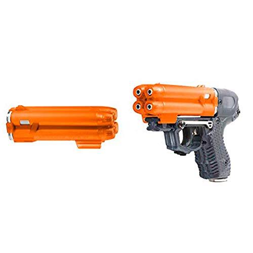 PIEXON Pfefferspraypistole JPX6 mit 4 Schuss Speedloader + Ersatzmagazin