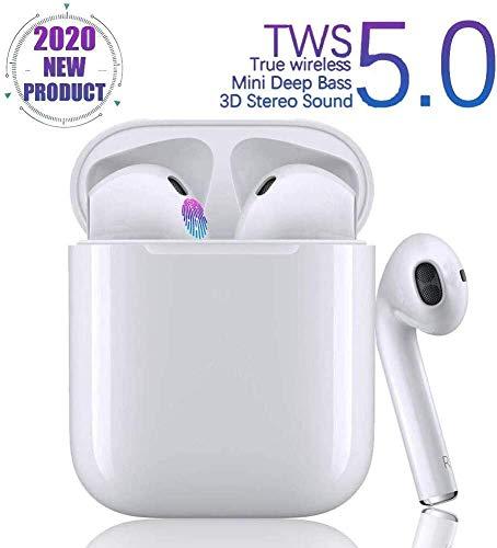 Cuffie Bluetooth Senza Fili,Cuffie sportive Riduzione del rumore,Auricolari wirelessScatola di Ricarica Stereo 3D HD Microfoni, Touch Control per Samsung/iPhone/Huawei/Apple O Airpods/Andriod