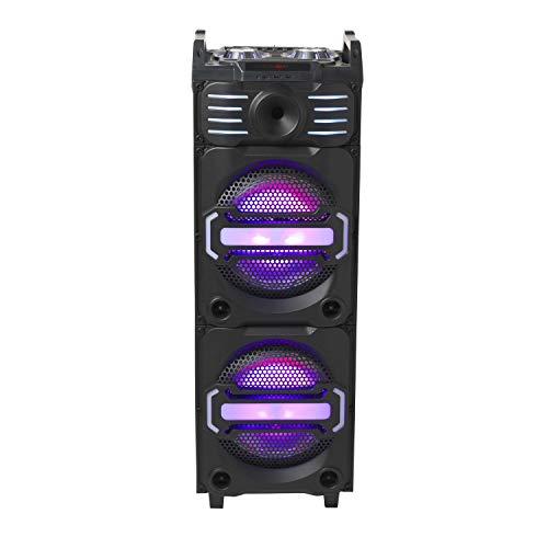 Denver 111151200020DJ Altavoz Bluetooth con Dos iluminadas 25,4cm (10Pulgadas) speakern