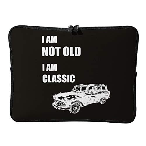 Regular I Am Not Old I Am Classic - Bolsas expandibles para ordenador portátil con funda para viaje de negocios, White (Blanco) - Annlotte-dnb
