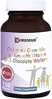 Kirkman Children's Chewable Calcium Chocolate Wafers | 120 Wafers