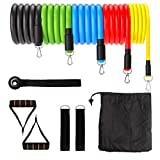 Resistance Bands Set, Exercise Bands with Door Anchor, Handles, Anchor Ankle Straps Carry Bag, Resistance Loop Band Men Women for Training, Physical Therapy, Home Workouts (2-O)