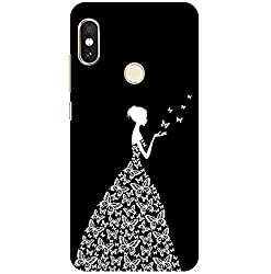 Pattern creations Woman Pattern Printed Designer Slim Light Weight Back Cover for Redmi 6 Pro Case