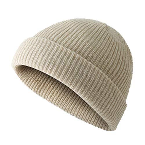 popchilli Sombrero de Lana de Punto Sombrero de Punto Sombrero de Lana Par ker Gorro de Lana Gruesa y cálida para Otoño Invierno Insuperable Suave, cálido y Acogedor