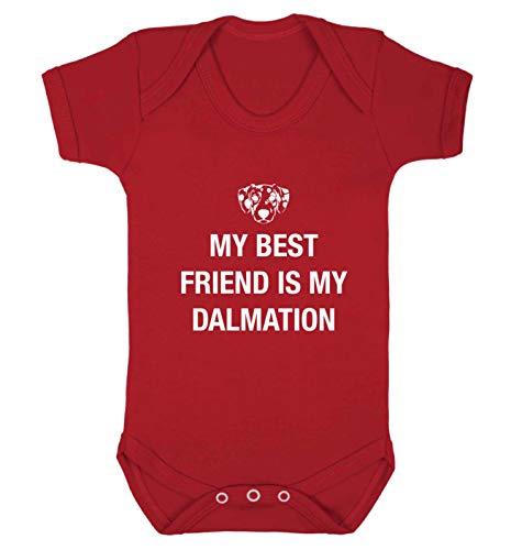Flox Gilet créatif pour bébé Best Friend Dalmation - Rouge - XS