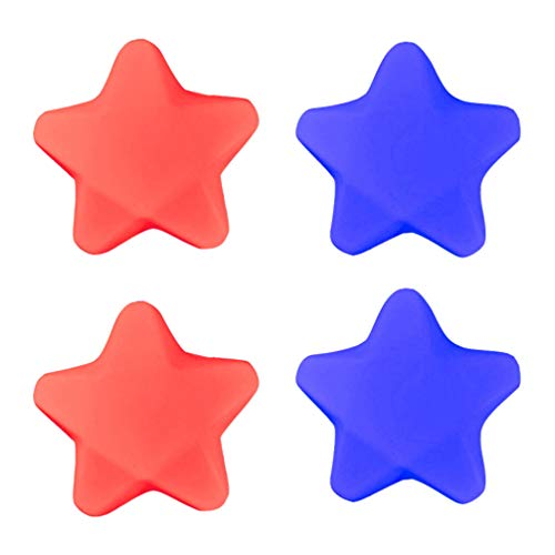 NUOBESTY 4 PCS Star Squeeze Toys PU Leather Slow Rising Hand Pillow Squeeze Decompression Finger Grip Toys Birthday Gifts for Kids Adults