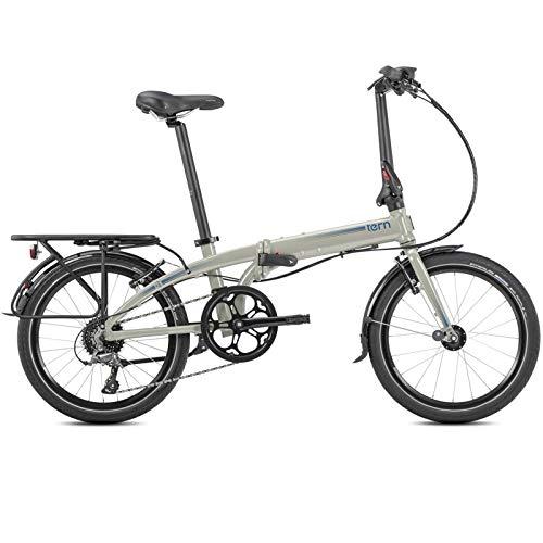 Tern Faltrad Link D7i Fahrrad 7 Gang 20 Zoll Alu Nabenschaltung Shimano Ständer Gepäckträger, CB19PNDO08HDR, Farbe Grau