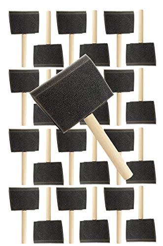 Pro Grade - Foam Brushes - 4 Inch - 24 Piece Poly Foam Brush Set