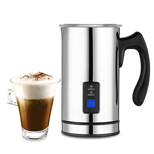 of the rated milk frothers dec 2021 theres one clear winner Magicook Automatic Electric Milk Frother & Heater with 3 Functions, Stainless Steel, Detachable Base, Non-Stick Interior, Fast foaming (silver)