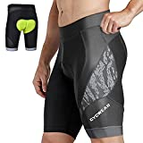 CYCWEAR Men's Bike Shorts 4D Coolmax Padded Cycling Shorts Tight Bicycle Shorts, Breathable and Absorbent, Quick-Dry