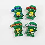 CharmTM Turtles Set of 6 Shoe Charms Assorted PVC Water Shoe Boy Birthday Party Favors
