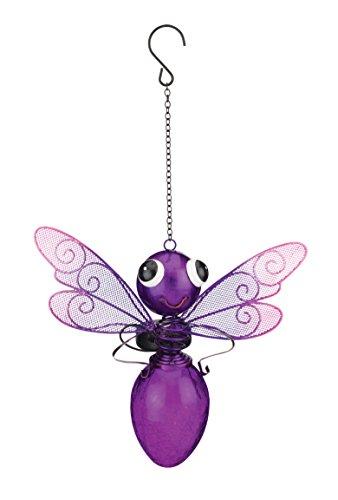 Regal Art & Gift 11577 Solar Dragonfly Lantern-Purple Lighting