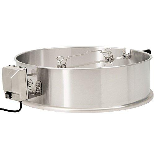 BBQ-Toro Edelstahl Grillspieß Set für 57 cm Kugelgrill, Rotisserie, Drehspieß für Holzkohle Grill