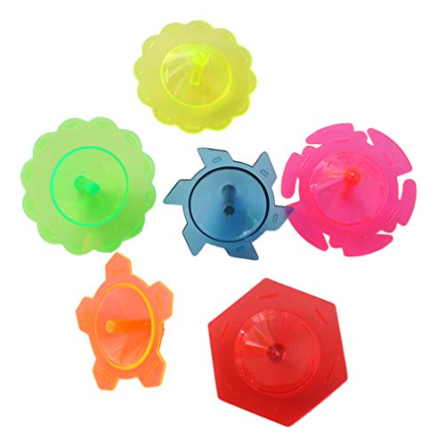 NUOBESTY Kunststoff Spinnen Tops Spin Tops für Kinder Parteibeutel Stuffers 100 Stück favorisiert