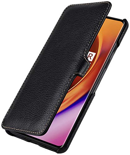 StilGut Book Hülle entwickelt für OnePlus 8 Hülle aus Leder mit Clip-Verschluss, Lederhülle, Klapphülle, Handyhülle - Schwarz