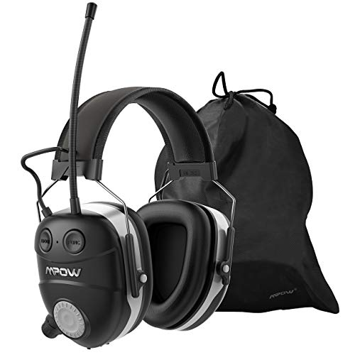 Mpow Shooting Ear Protection, Professional Electronic Earmuffs with Listening Mode, 22dB NRR Earmuffs with Adjustable Headband, Noise Cancelling headphones for Shooting, Hunting, Construction, Mowing