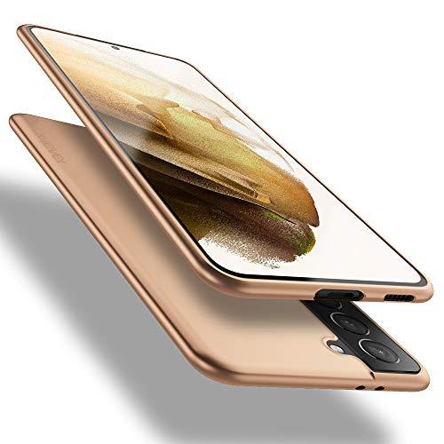 X-level Samsung Galaxy S21 5G Hülle, [Guardian Serie] Soft Flex TPU Hülle Superdünn Handyhülle Silikon Bumper Cover Schutz Tasche Schale Schutzhülle für Samsung Galaxy S21 5G - Gold