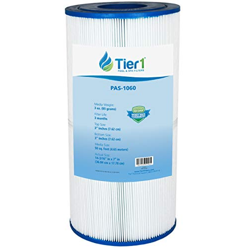 Tier1 Replacement Pool Filter Cartridge - Hayward C2025 - SwimClear C2020 C2025 - Filbur FC-1235 - Pleatco PA50SV - Unicel C-7447