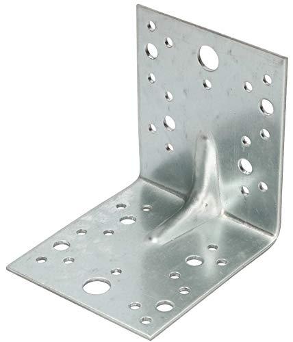 KOTARBAU® Winkelverbinder 105x105x90mm mit Rippe Sicke Lochwinkel Bauwinkel Holzverbinder Balkenwinkel Verbinder Top -Qualität Silber Verzinkt Winkel