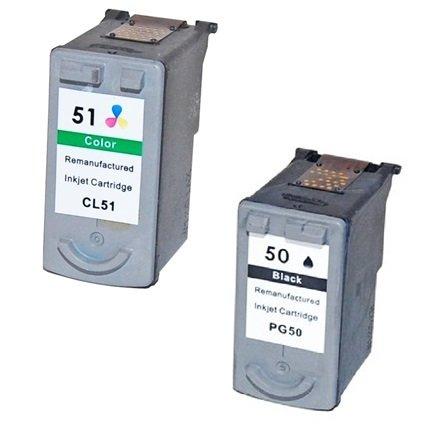 Prestige Cartridge 6 XL Compatibile PG-50 (PG50) Nero & CL-51 (CL51) Colore
