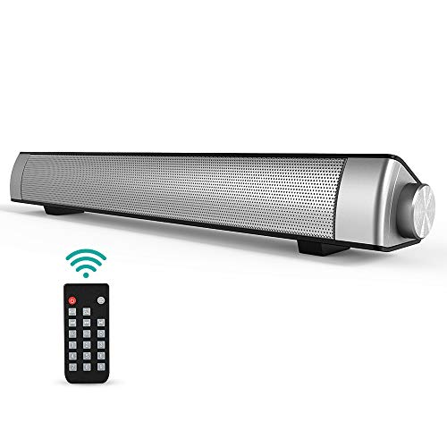 Soundbar, GIARIDE Bluetooth 4.1 Lautsprecher Surround Sound Bar mit Fernbedienung, 3,5 mm Aux, TF-Kartensteckplatz für PC, Tablets, Handy, TV
