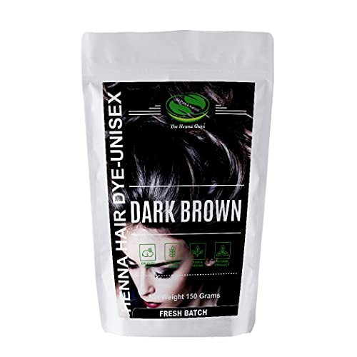 1 Pack of Dark Brown Henna Hair Color/Dye - 150 Grams - Henna for Hair, Natural Hair Color - Chemical Free Hair Color - The Henna Guys