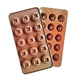 Fewear Molde de silicona con forma de agujero redondo para tartas de chocolate
