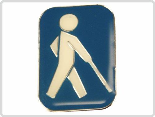 Blindenplakette Pakette international Farbe:Blau *Top-Qualität*