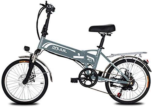 Bicicleta de montaña eléctrica, 20 pulgadas bicicleta eléctrica for los adultos, eléctrica plegable Bicicleta / bicicleta eléctrica de 48V de trayecto, con 10,5 / 12.5Ah batería y 7 Professional veloc
