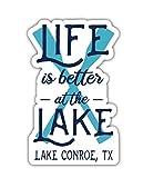 Lake Conroe Texas Souvenir 4 Inch Vinyl Decal Sticker Paddle Design