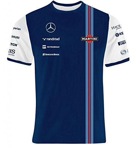 Williams Martini Racing Team Replica Kids – Camiseta, Hackett London, fórmula 1, F1, Azul, Valtteri Bottas, Felipe Massa) Azul azul Talla:140