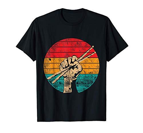 Drummer Palos De Tambor Músico Regalo Baquetas De Batería Camiseta