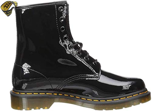 Dr. Martens Women's 1460 Patent Leather Combat Boot, 10, Black