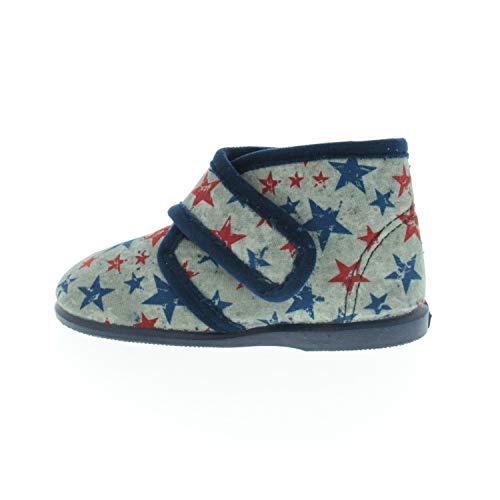 Natural World Schuhe für Jungen Hausschuhe Marino Blau W10804077 (Numeric_25)