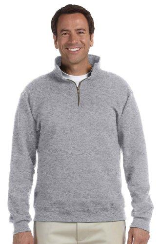 Jerzees mens 9.5 oz. 50/50 Super Sweats NuBlend Fleece Quarter-Zip Pullover(4528)-OXFORD-L Maine