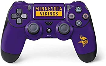 Skinit Decal Gaming Skin for PS4 Controller - Officially Licensed NFL Minnesota Vikings Purple Performance Series Design