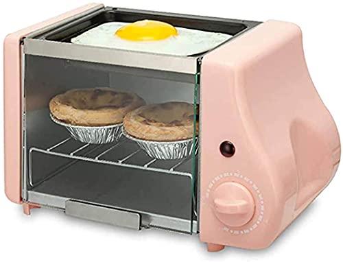 Horno convencional, 1.5L de gran capacidad de control inteligente Tostador de temperatura de la temperatura Mini horno eléctrico, incluye pan para hornear, bastidor de aseo, acero inoxidable