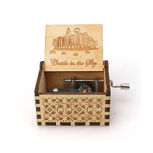 maxsan Antique Wooden Hand Crank Carved Queen Music Box Birthday Party Casket Anonymity Decoration-22-