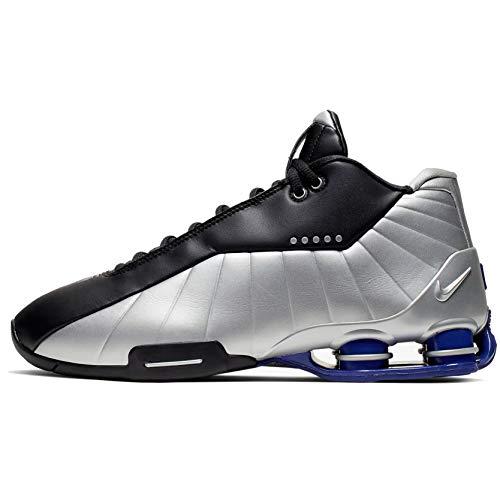 Nike Shox Bb4 Mens At7843-001, Black/Metallic Silver-lapis, 11