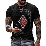 Camiseta para Hombre, Camiseta Informal De Verano De Manga Corta, Ropa para Hombre, Ropa De Calle, Camisetas GráFicas con Estampado De