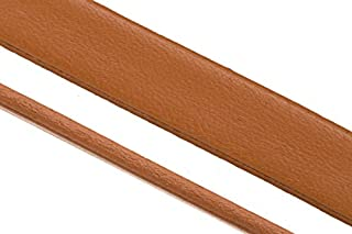Moccasin full-grain flat leather cord for slider beads 10x2.5mm, custom-cut length available