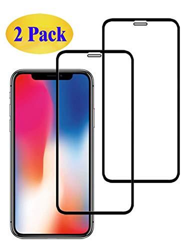 Eachy Compatibile con Vetro Temperato iPhone X/iPhone XS/iPhone 11 PRO Pellicola Protettiva,[2 Pezzi] Protezione Schermo iPhone X/XS/iPhone 11 PRO Copertura Completa Bordo a Bordo 5,8 Pollici-Nero