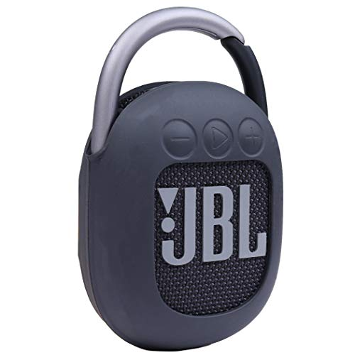 Aenllosi Silicone Carrying Case Replacement for JBL Clip 4 Portable Bluetooth Speaker (Black)