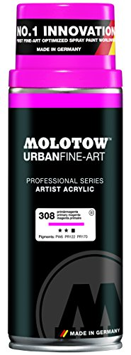 MOLOTOW Urban Fine Art Acrylic Spray Paint, 400ml Can, Primary Magenta